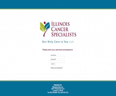 Web-To-Print Case Study: Illinois Cancer Specialists