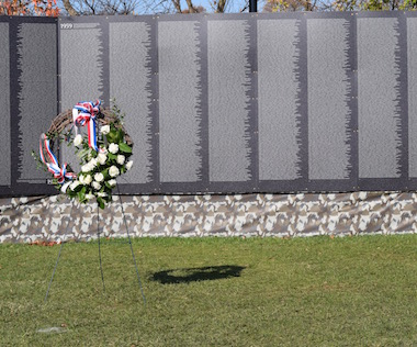 Blooming Color Produces Replica Vietnam Wall on Display in Naperville, Illinois