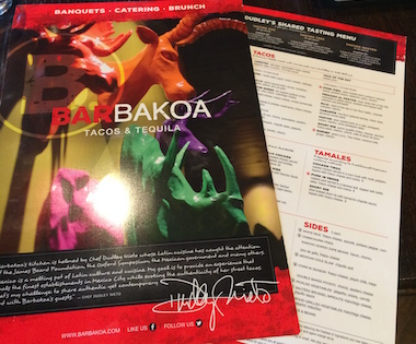 Vibrant Menus Produced for Barbakoa's Events & Catering